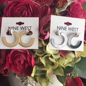 Nine West 2 Sets of Half-Hoop Earrings